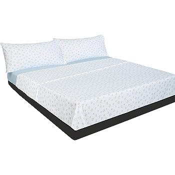 Montse Interiors Juego de sábanas Estrellas Azul Algodón 100% (A-Paris Azul, para Cama de 90x190/200)…: Amazon.es: Hogar