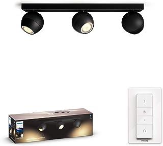 Philips Hue Buckram opbouwspot 3-Lichts - Duurzame LED Verlichting - Warm tot Koelwit Licht - Incl. dimmer switch - Verbin...