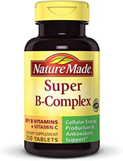 Nature Made Super B Complex + Vitamin C Tablets, 250 Count