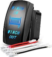 Nilight 90005B Momentary Laser Rocker 7Pin Winch Harness Kit 20A/12V 10A/24V Switch Jumper Wires Set,2 Years Warranty