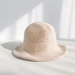 SHENTIANWEI Warm Autumn and Winter hat Knitted hat Female Winter hat Korean Wild Small Fall in The Wool Cap Tide (Color : Beige, Size : One Size)