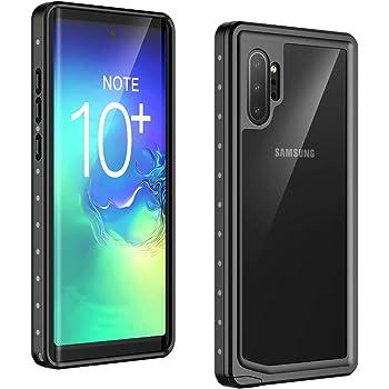 Temdan - Funda impermeable para Samsung Galaxy Note 10 Plus, resistente a los golpes, cuerpo completo, protector de visualización integrado para Samsung Note 10 Plus (liberación de huellas dactilares con película de huella)