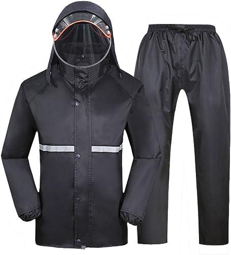 YUJIE Pantalon De Pluie Unique Moto électrique Voiture Imperméable Hommes Et Femmes Scaphandre Imperméable Noir