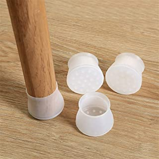 Furniture Silicon Protection Cover - Chair Leg Caps Silicone Floor Protector Round Furniture Table Feet Cover, Anti-Slip B...