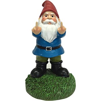 "Gnometastic The Original Double Bird Garden Gnome Statue, 8.45"" Tall"