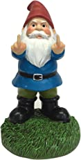"Gnometastic The Original Double Bird Garden Gnome Statue, 8.45"" Tall - Indoor/Outdoor Funny Lawn Gnome Decoration"