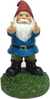 """Gnometastic The Original Double Bird Garden Gnome Statue, 8.45"""" Tall"""