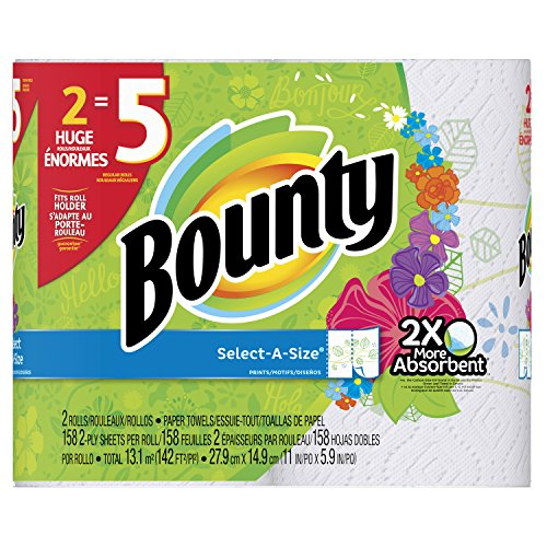 Bounty Select-A-Size Print Paper Towels, 2 Count