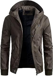 Coat Men Spring Winter Solid Color Jacket Zipper Corduroy Jacket Button Hooded Blouse