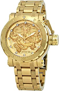 Men's 26511 Coalition Forces Automatic 3 Hand Gold Dial Watch