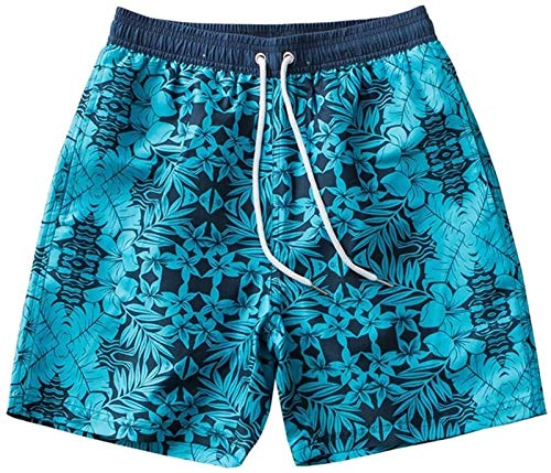 Costume da bagno moda Tronchi da nuoto da uomo Pantaloncini da spiaggia Pantaloncini da uomo a molla calda Impermeabile e rapido Asciugatura di grandi dimensioni Tronchi di nuoto Pianta Trend Five Flo