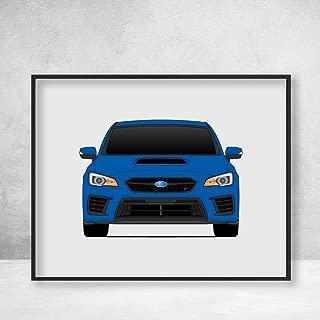 Subaru STI WRX Impreza G4 Fourth Generation (2018-2019) Poster Print Wall Art Decor Handmade