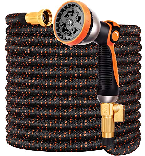 Expandable Garden Hose 75FT Water Hose with 10 Function Nozzle and...