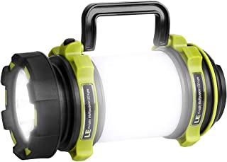 LE LED Camping Lantern Rechargeable, Brightest Flashlight with 500LM, 4 Light Modes, 2600mAh Power Bank, IPX4 Waterproof, Perfect for Hurricane Emergency, Outdoor, Hiking and Home, USB Cable Included