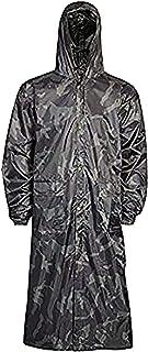 Rimi Hanger Mens Long Waterproof Hooded Lightweight Rain Coat Adult Outdoor Jacket Raincoat Small/2X Large