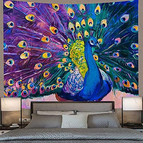 KBIASD Tapiz de Mandala con Plumas de Colores, tapices artísticos de Animales para Colgar en la Pared, para la decoración del Dormitorio del hogar de la Sala de Estar, 230 * 150 cm