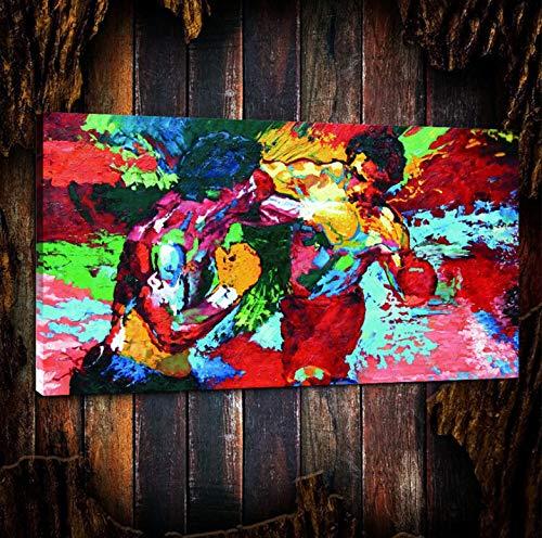 REDWPQ Wall Art Canvas Poster Rocky Vs Apollo - Pugilato Tela Pittura Soggiorno Decorazioni per la casa Arte murale Moderna Pittura a Olio 40 * 70 cm Senza Cornice