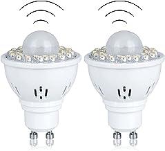 GU10 LED Light Bulbs with PIR Motion Sensor 5W Equivalent 50W 500Lm Spotlight Bulbs for Stairs Garage Corridor Walkway Hal...