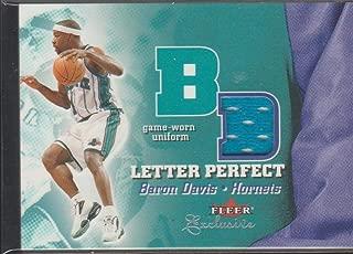 2002 Fleer Baron Davis Hornets Game Used Jersey Basketball Card #BD-JV
