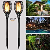 Solar Lights Outdoor, Gogomy Garden Solar Lights Waterproof LED Flickering Flames Torch Lights