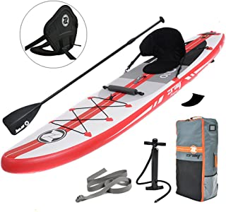 Zray Inflatable Stand Up Paddle Board SUP Comes with High Pressure Pump with Gauge/Adjustable Paddle/Big Durable Backpack,  6 Thick