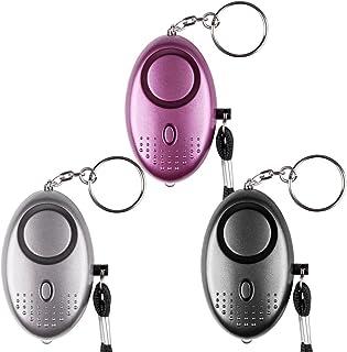 Qoosea Scream Safesound Alarm voor noodgevallen, persoonlijke alarm, verpakking van 3 stuks, 140 dB, LED-zaklamp voor kind...