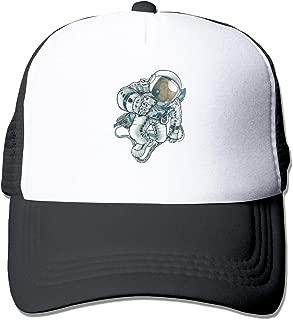 Space Monkey Trucker Hat Snap Back Sun Mesh Baseball Cap Hip Hop Flat Hats for Men and Women