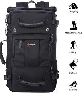 Anti-theft Travel Daypack Hiking Backpack Multifunction Water Repellent Outdoor Trekking Knapsack Carry-on Bag (black)