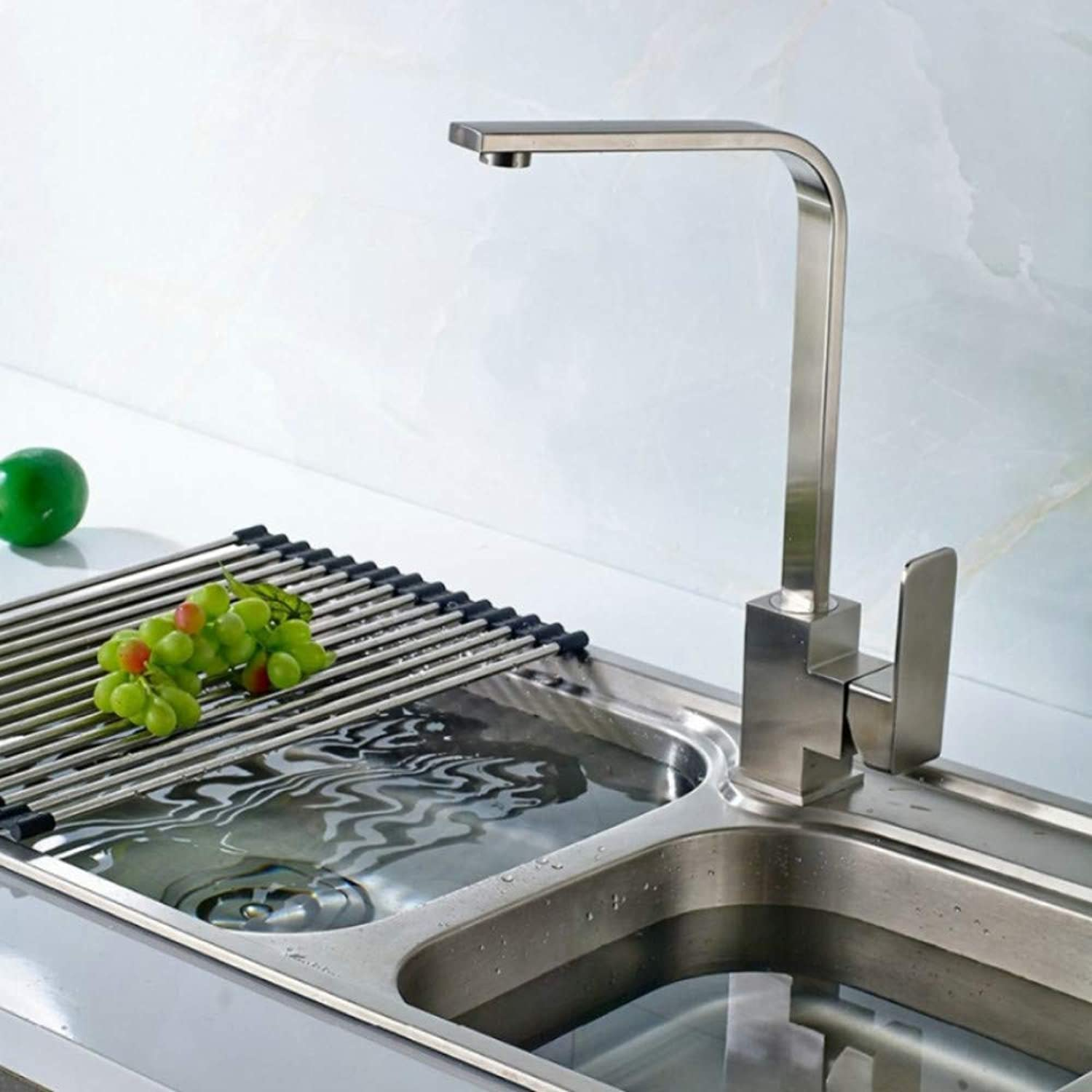 Lddpl Kitchen Faucet 304 Stainless Steel Kitchen Plate redatable Tap Kitchen Cold and Hot Deck Mounted