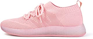 FX Sneakers for Women, Mesh Sports Shoes Breathable Pink Girl Casual Shoes Soft Bottom Running Shoes