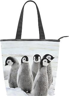 alaza Tote Canvas Schultertasche Nette Pinguine Handtasche