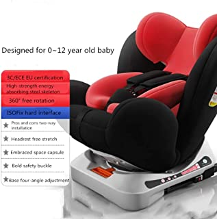 Child Safety Car Seat, 360 Degree Rotation ISOFIX Hard Interface - 0-12 Years Old
