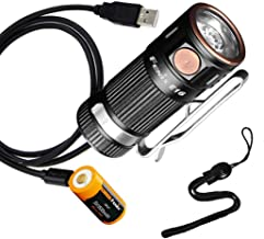 Fenix E16 700 Lumen High Performance EDC Keychain Flashlight with USB Rechargeable Battery & LumenTac Charging Cable