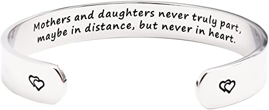 Mothers and Daughters Maybe in Distance But Never Truly Part But Never in Heart Bracelet