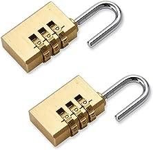 Youery Combinatieslot,2 Pack Long Home SecurityHangslot Locker Sloten,Weerbestendige Heavy Duty Lock met 3-cijferige gladd...