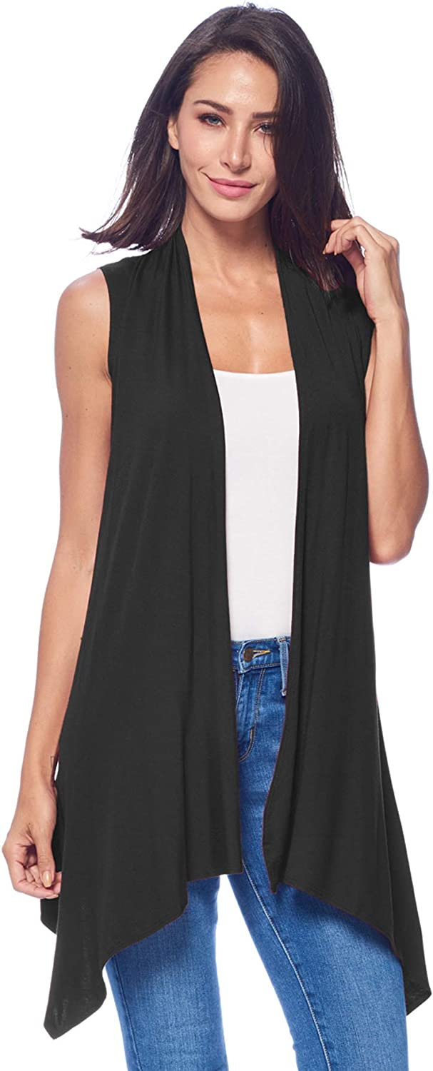 82 Days Womens Casual Sleeveless Long Summer Cardigan Plus Size Made in USA