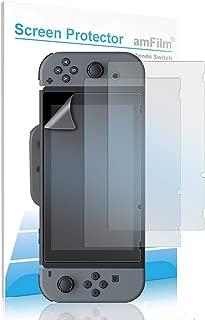 amFilm Anti-Glare Matte Screen Protector for Nintendo Switch, amFilm Nintendo Switch Matte Screen Protector for Nintendo Switch 2017 (3-Pack)