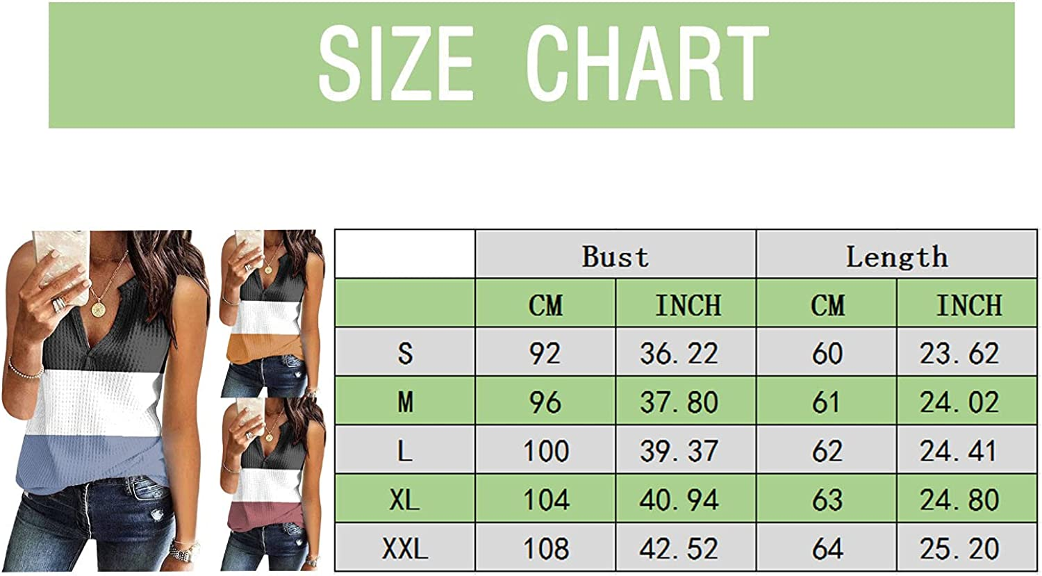 BEUU Women's Summer Henley Tank Tops Sleeveless Button Up V Neck Tees Casual Tunic Shirts Waffle Knit Flowy Camisole