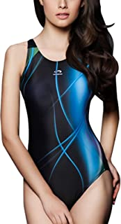 PHINIKISS Women Sport Racerback One Piece Swimsuit Swimwear Athletic Swimming Suit