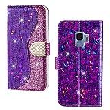 SEEYA Cartera de teléfono para Samsung Galaxy S9 Mujer, Purple (Morado) - SAX03JULS9R-02