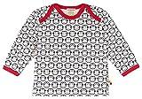 loud + proud Baby-Unisex Shirt Langarm Druck Sweatshirt, Blau (Navy ny), 68 (Herstellergröße: 62/68)