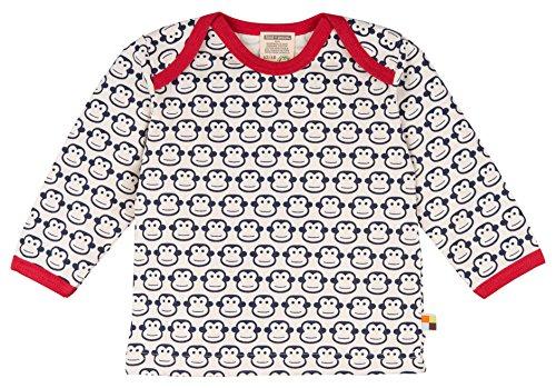 loud + proud Baby-Unisex Shirt Langarm Druck Sweatshirt, Blau (Navy ny), 116 (Herstellergröße: 110/116)
