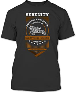 Serenity Shipping and Logistics Firefly Class T Shirt, Nathan Fillion Firefly T Shirt