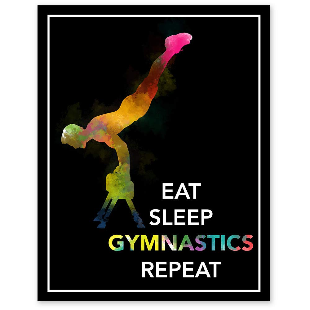 Eat Sleep Gymnastics Repeat Watercolor Wall x Unfr 14 Challenge the lowest price - Some reservation 11 Print