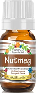 Pure Gold Nutmeg Essential Oil, 100% Natural & Undiluted, 10ml