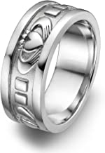 Sterling Silver Men's UMS-6343 Wedding Claddagh Ring