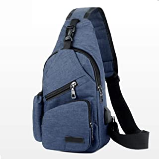 Coolpin Outdoor Sports Chest Bag Sling Backpack With USB Charging Port Polyester Multipurpose Outdoor Gym Shoulder Bag