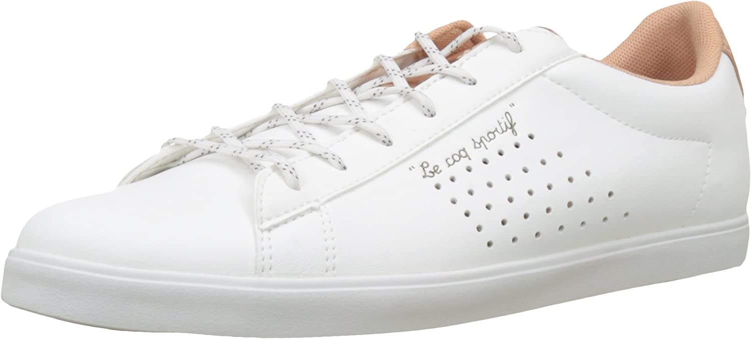 Le Coq Sportif Women's Agate Sport Optical White Dusty Coral Trainers