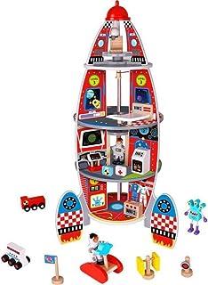 Tooky Toy Rocket Ship 17 Pieces