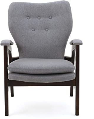 Christopher Knight Home Jasper Fabric Arm Chair, Grey